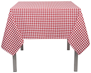 Red Gingham Tablecloth <br> 60 x 60 inch