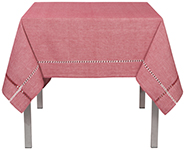 Tangier Knotted Red Tablecloth <br> 60 x 60 inch