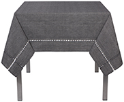 Tangier Knotted Black Tablecloth <br> 60 x 90 inch