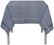 Tangier Knotted Blue Tablecloth <br> 60 x 90 inch