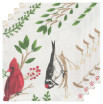 Winter Birds Napkins <br> Set of 4