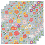 Flowers Of The Month Napkins <br> Set of 4