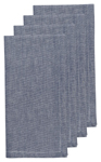 Chambray Navy Napkins <br> Set of 4