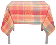 Sun Bloom Jacquard Tablecloth <br> 60 x 60 inch