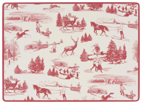 Holiday Toile Cork-Backed Placemats <br> Set of 4