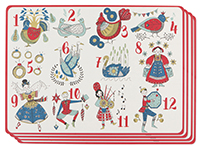 Twelve Days Of Christmas Placemat