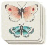 Fly Away Cork-Backed Coasters <br> Set of 4