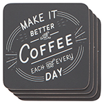 Better With Coffee Cork-Backed Coasters <br> Set of 4