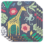 Wild Bunch Cork-Backed Coasters <br> Set of 4