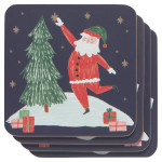 Must Be Santa Coasters <br> Set of 4