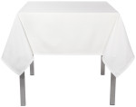 White Renew Tablecloth <br> 55 x 55 inch
