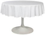 White Renew Tablecloth <br> 60 inch round