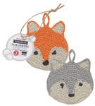 Tawashi Animal Scrubbers - Freddy Fox<br> Set of 2