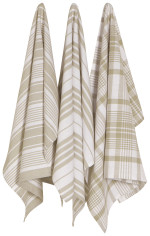 Sandstone Jumbo Dishtowels <br> Set of 3
