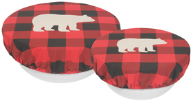 Buffalo Check Bear Save It Bowl Covers