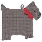 Crochet Trivet - Scotty Dog