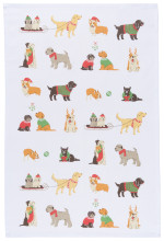 Holiday Pups Dishtowel
