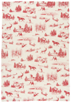 Holiday Toile Dishtowel