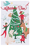 Christmas Tree Decorating  Dishtowel