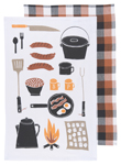 Camp Cookout Dishtowels <br> Set of 2