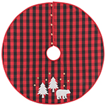 Buffalo Check Bear Tree Skirt