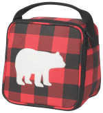 Buffalo Check Bear Lets Do Lunch Bag