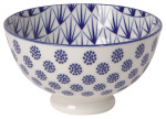 Stamped Bowl Blue Dots <br> 4 inch
