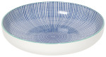 Stamped Shallow Bowl - Blue