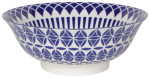 Stamped Bowl Blue Geo <br> 8 inch