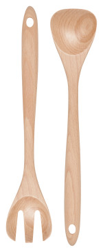 Salad Server Set Beech Wood