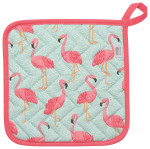 Flamingos Potholder