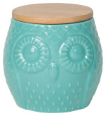 Owl Canister<br> Small Turquoise