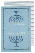 Happy Hanukkah Dishtowels <br> Set of 2