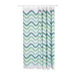 Chevron Green Shower Curtain