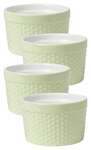 Mint Dotty Souffle Ramekins <br> Set of 4