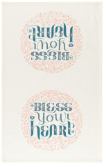 Bless Your Heart Printed Dishtowel