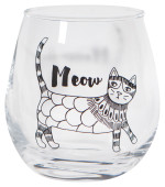 Purr Party Wine Glass