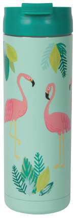Flamingos Roam Travel Mug