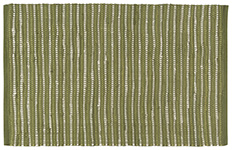 Green Chindi Stripe Rug <br> 2' x 3'