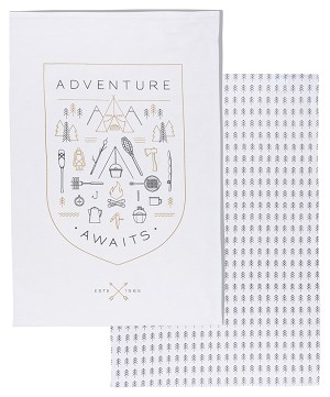 Adventure Awaits Dishtowels <br> Set of 2