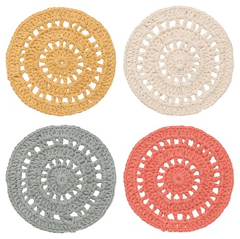 Amber Crochet Coasters <br> Set of 4