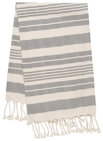 Hammam Hand Towel <br> Black Stripe