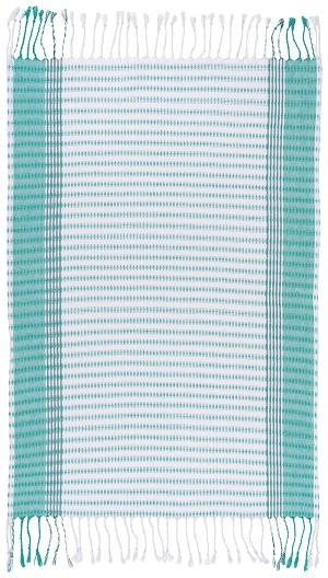 Hammam Guest Towel Sea Green Stripe