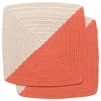 Angle Crochet Dishcloths <br> Set of 2 Sienna