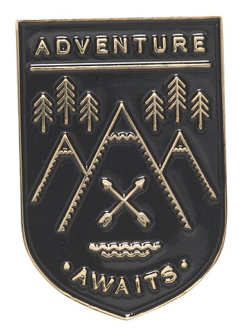 Adventure Awaits Enamel Pin