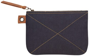 Blue Denim Sawyer Large Zipper Pouch