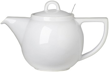 White Geo Filter Teapot <br> 4-cup