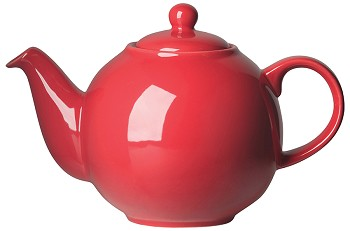 Red Globe Teapot <br> 8-cup