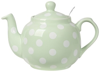 Farmhouse Filter Teapot <br> Mint/Wht Spots