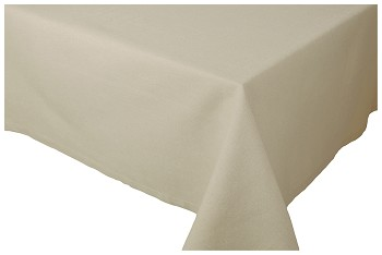 Lt Taupe Spectrum Tablecloth <br> 60 x 108 inch